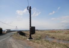 宮城県大崎地区 河川監視カメラ柱