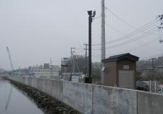 宮城県松島地区 河川監視カメラ柱