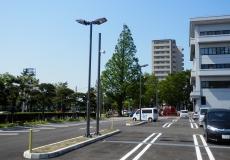 秋田県 某駐車場 スピ-カ-用支柱